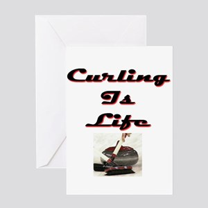 Curling is Life Greeting Card