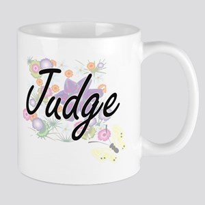 Judge Artistic Job Design with Flowers Mugs