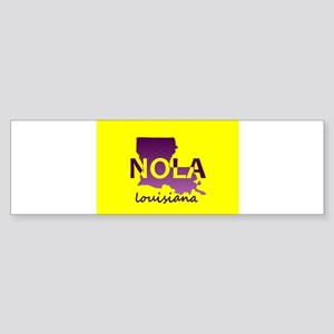 LOUISIANA NOLA Purple and Gold Bumper Sticker
