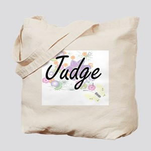 Judge Artistic Job Design with Flowers Tote Bag