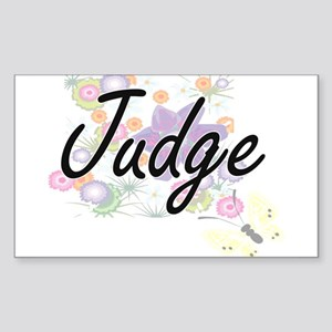 Judge Artistic Job Design with Flowers Sticker