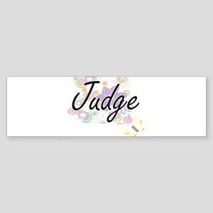 Judge Artistic Job Design with Flow Bumper Sticker