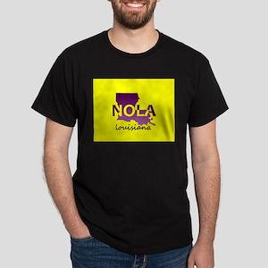 LOUISIANA NOLA Purple and Gold T-Shirt