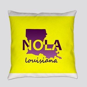 LOUISIANA NOLA Purple and Gold Everyday Pillow