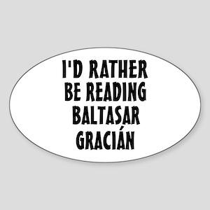 Reading Baltasar Gracian Sticker (Oval)
