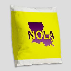 Louisiana NOLA Stand alone Burlap Throw Pillow