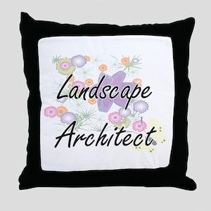 Landscape Architect Artistic Job Desi Throw Pillow