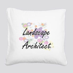 Landscape Architect Artistic Square Canvas Pillow