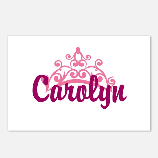 Princess Crown Personalize Postcards (Package of 8