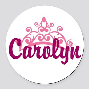 Princess Crown Personalize Round Car Magnet