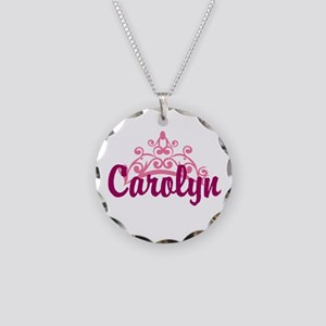 Princess Crown Personalize Necklace Circle Charm