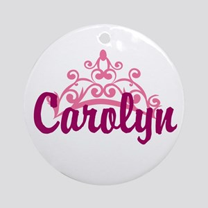 Princess Crown Personalize Round Ornament