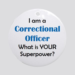 correctional officer Round Ornament