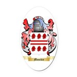 Musckie Oval Car Magnet