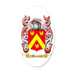 Musaiov Oval Car Magnet