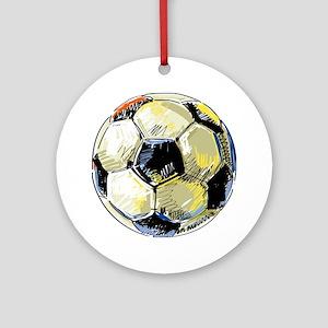 Hand Drawn Football Round Ornament