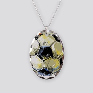 Hand Drawn Football Necklace
