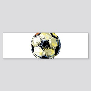 Hand Drawn Football Bumper Sticker