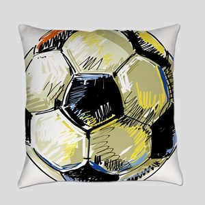 Hand Drawn Football Everyday Pillow