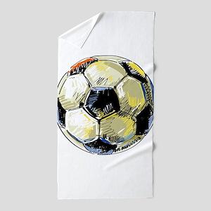 Hand Drawn Football Beach Towel