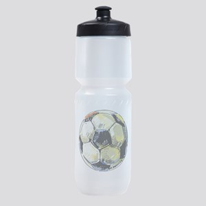 Hand Drawn Football Sports Bottle