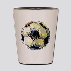 Hand Drawn Football Shot Glass