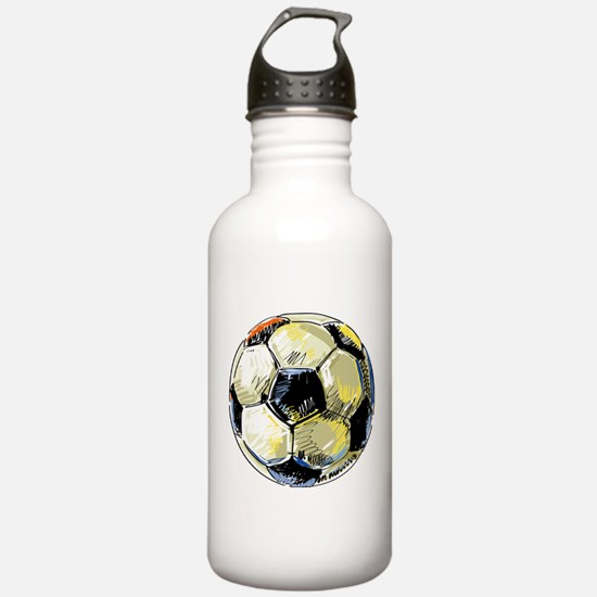 Hand Drawn Football Water Bottle