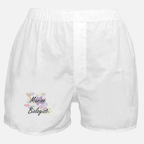 Marine Biologist Artistic Job Design Boxer Shorts
