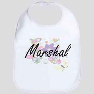 Marshal Artistic Job Design with Flowers Bib