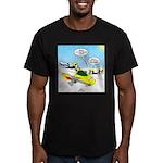 Skunk Jet Sled Men's Fitted T-Shirt (dark)