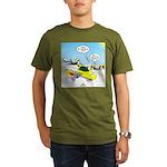Skunk Jet Sled Organic Men's T-Shirt (dark)