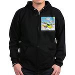 Skunk Jet Sled Zip Hoodie (dark)