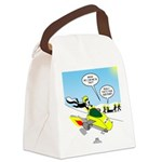 Skunk Jet Sled Canvas Lunch Bag