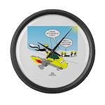 Skunk Jet Sled Large Wall Clock