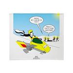 Skunk Jet Sled Throw Blanket