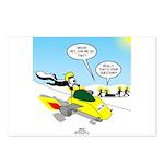 Skunk Jet Sled Postcards (Package of 8)