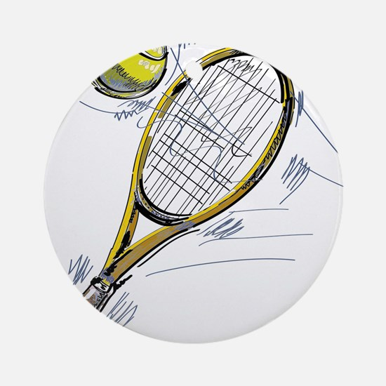 Tennis bat Round Ornament