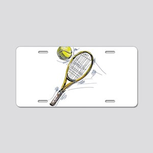 Tennis bat Aluminum License Plate