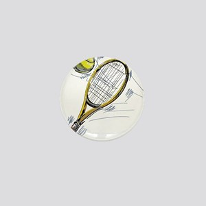 Tennis bat Mini Button
