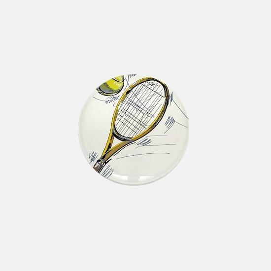 Tennis bat Mini Button