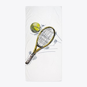 Tennis bat Beach Towel