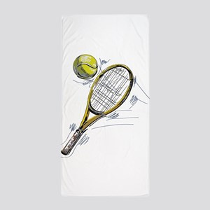 Tennis bat Beach Towel