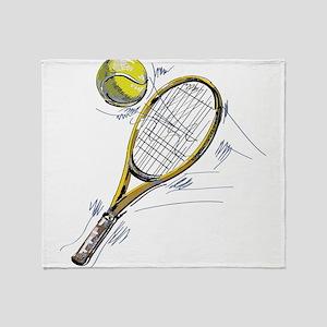 Tennis bat Throw Blanket