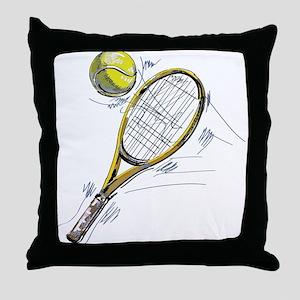 Tennis bat Throw Pillow