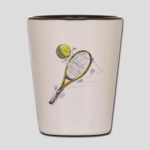 Tennis bat Shot Glass