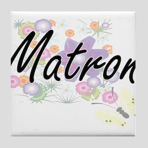 Matron Artistic Job Design with Flowe Tile Coaster