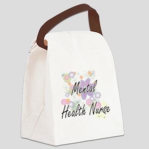 Mental Health Nurse Artistic Job Canvas Lunch Bag