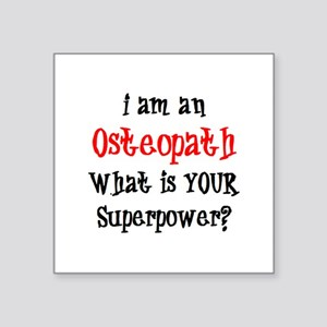 "osteopath Square Sticker 3"" x 3"""