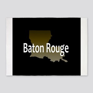 LOUISIANA BATON ROUGE 225 Area Code 5'x7'Area Rug