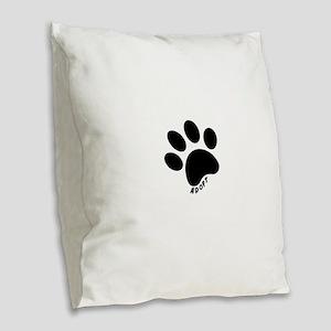 Adopt! Burlap Throw Pillow